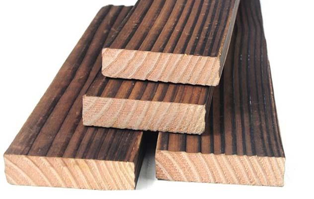 自贡炭化木材